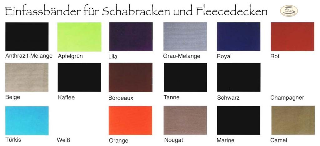 Esperado Schabracken Einfassfarben Abschwitzdecken von Esperado 2011