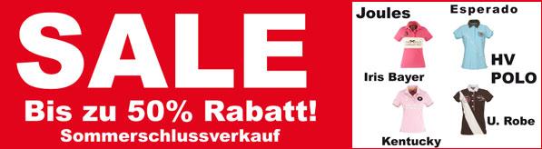 Shop für Reitbekleidung Sommerschlussverkauf HV Polo, Joules, Esperado günstig online kaufen