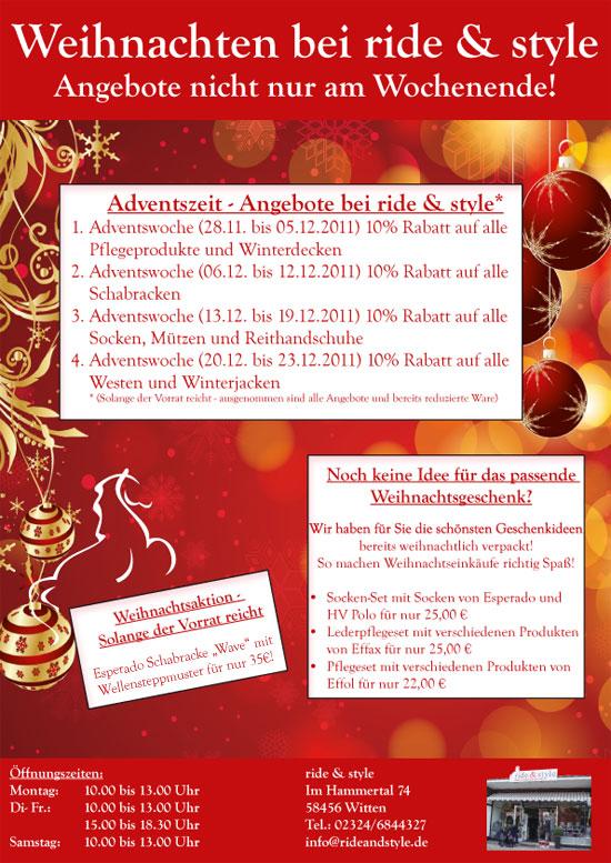 ride & style Reitmode Weihnachtsangebote - Schabracken, Winterdecken, Mützen, Socken alles für Reiter und Pferd von HV Polo, Esperado, Joules, Spooks