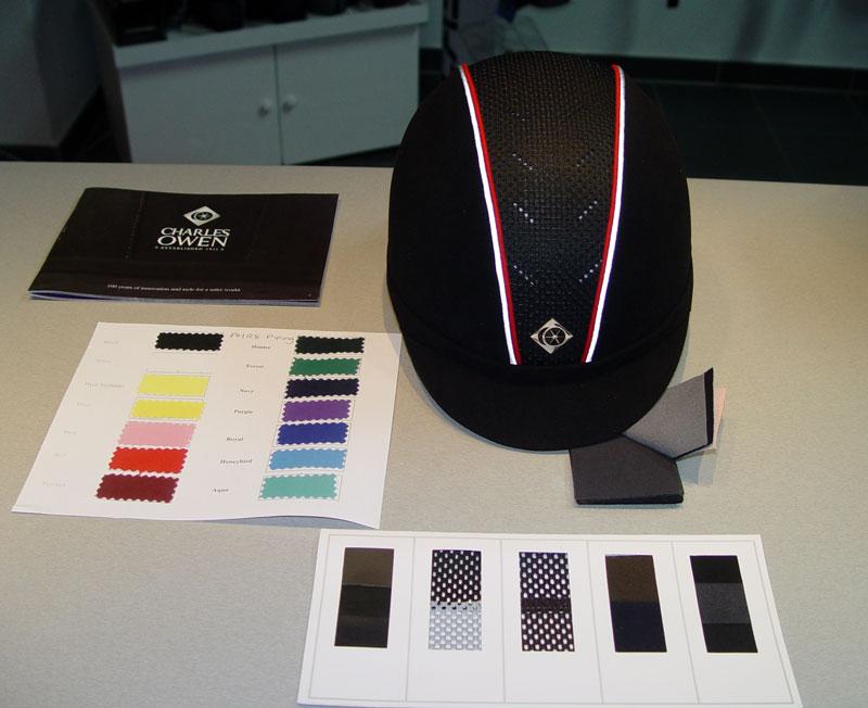 Individuelle Reithelme mit Charles Owen - eigene Farben, Stoffe - Reitkappen